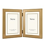 Siena Metallics 2-Photo 4-Inch x 6-Inch Narrow Double Beaded Frame in Gold