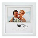"Pearhead® 4-Inch x 6-Inch ""Mr. & Mrs."" Wedding Thumbprint Frame in White"
