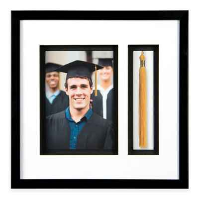PhotoGuard 11-Inch x 11-Inch Graduation Memories Collage Frame in Black