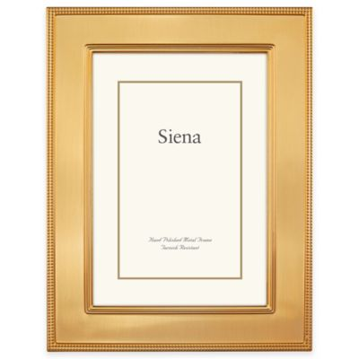 siena metallics 8 inch x 10 inch flat plain frame in pearl gold