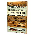Advice from the Ocean Reclaimed Wood Wall Art