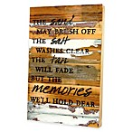 """The Sand May Brush Off"" Reclaimed Wood Wall Art"