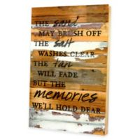 """The Sand May Brush Off"" Wooden Wall Art"