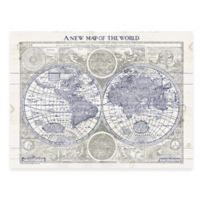 World Map Digitally Printed Wooden Panel Wall Art