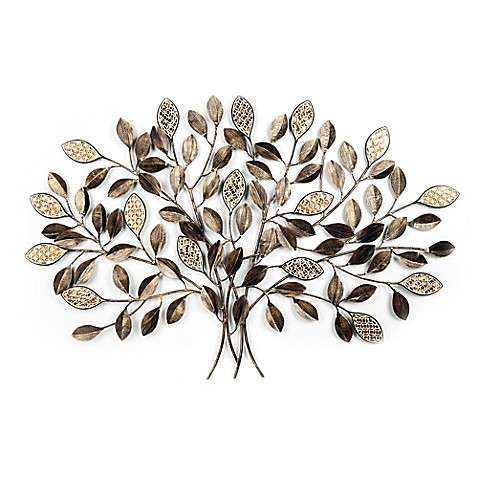 Metal Mosaic Tree Wall Décor in Bronze - Bed Bath & Beyond