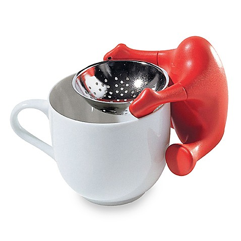 Alessi Te O Tea Strainer in Red