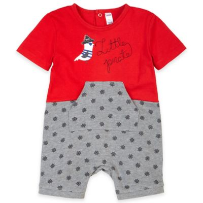 Petit Lem™ Size 6M Baby Pirate Romper in Red/Grey