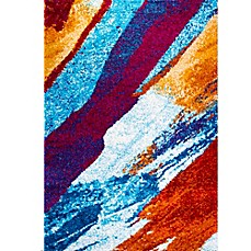 Four Season Bold Shag Area Rug In Multicolor Bed Bath