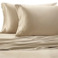 Valeron Estate Silk Queen Sheet Set in Champagne