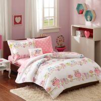 Mi Zone Wise Wendy 6-Piece Twin Comforter Set in Pink