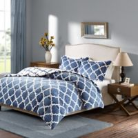 Sleep Philosophy True North Reversible Twin Comforter Set in Indigo