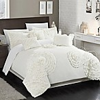 Chic Home Beverley 7-Piece King Comforter Set in White