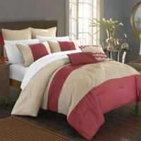 Chic Home Gwendolyn 7-Piece Queen Comforter Set in Taupe