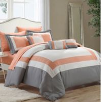 Chic Home Dylan 10-Piece Queen Comforter Set in Peach
