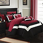 Chic Home Dylan 10-Piece Queen Comforter Set in Red