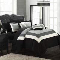 Chic Home Dylan 10-Piece King Comforter Set in Black