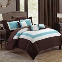 Chic Home Dylan 10-Piece Queen Comforter Set in Brown