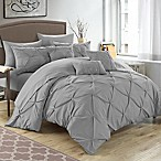 Chic Home Salvatore 10-Piece Queen Comforter Set in Silver
