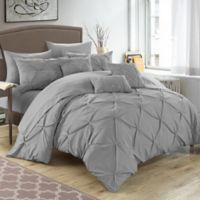 Chic Home Salvatore 8-Piece Twin Comforter Set in Silver