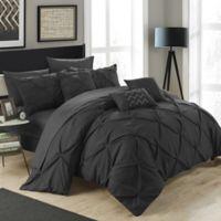 Chic Home Salvatore 8-Piece Twin Comforter Set in Black