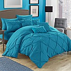 Chic Home Salvatore 10-Piece King Comforter Set in Turquoise