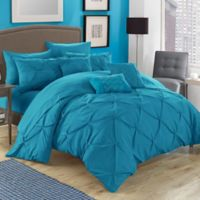 Chic Home Salvatore 8-Piece Twin Comforter Set in Turquoise