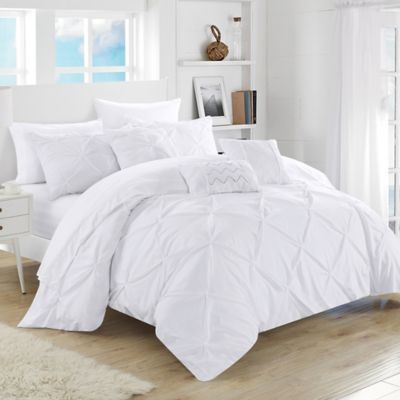 sidney 6 7 comforter set in white bed bath amp beyond buy sidney 7 comforter set in white from bed 997