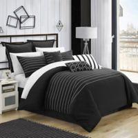 Chic Home Cranston 9-Piece King Comforter Set in Black