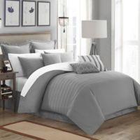 Chic Home Cranston 9-Piece Queen Comforter Set in Grey