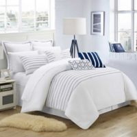 Chic Home Cranston 4-Piece King Duvet Cover Set in White