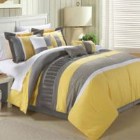 Chic Home Elijah 8-Piece King Comforter Set in Yellow