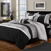 Chic Home Elijah 8-Piece Queen Comforter Set in Black