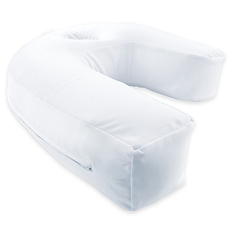 Sidesleeper pro airtm round neck and back pillow in white for Best pillow for side sleepers bed bath and beyond