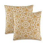 Silvester Throw Pillow in Yellow (Set of 2)