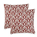 Amber Red Throw Pillows (Set of 2)