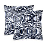 Moroccan Tile Throw Pillow in Indigo (Set of 2)