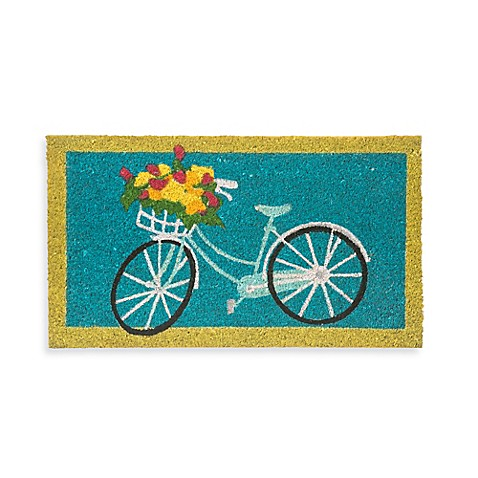 Rubber Door Mat Frame And Flower Bicycle Insert Bed Bath