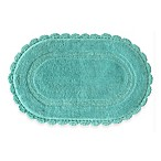 Jessica Simpson 21-Inch x 34-Inch Carlin Reversible Bath Rug in Aqua