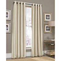 Gardnera 95-Inch Grommet Top Window Curtain Panel in Natural