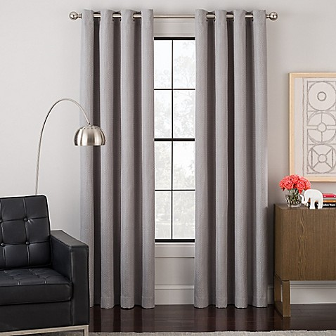 image of Impression Grommet Top Lined Window Curtain Panel