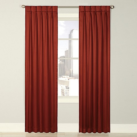 Splendor Grommet Glide Pinch Pleat Lined Window Curtain