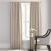 Barbara Barry Modern Drape Rod Pocket/Back Tab 84-Inch Window Curtain Panel in Flax
