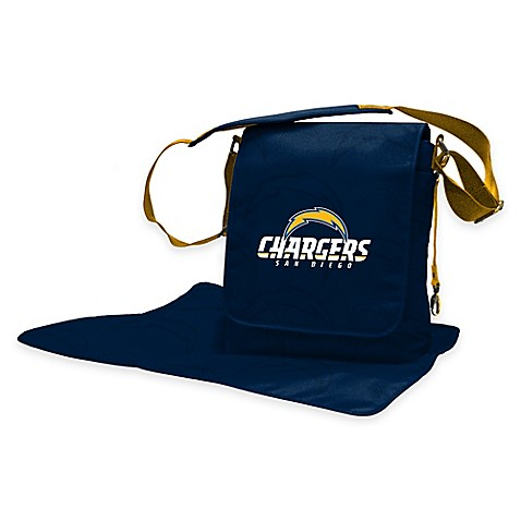 Lil Fan 174 Nfl San Diego Chargers Messenger Diaper Bag