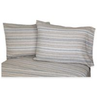 Belle Epoque La Rochelle Collection Herringbone Heathered Flannel California King Sheet Set
