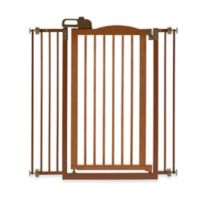 Richell® Tall One-Touch Gate II Pressure Mount Step-Through Pet Gate in Autumn