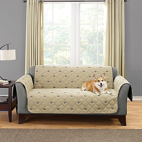 Sure Fit 174 Deluxe Embroidered Pet Furniture Cover In Tan