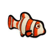 Tuffy® Fish Squeaker Dog Toy in Orange/White Stripes