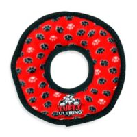 Tuffy® Ultimate Ring Paw Print Squeaker Dog Toy in Red