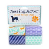 Chasing Baxter™ 120-Count Printed Waste Refill Bags in Blue/Orange