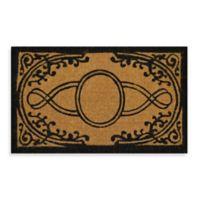 Nature by Geo Crafts Imperial Bristol 30-Inch x 48-Inch Doormat in Beige/Black